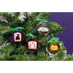 Friends Christmas Tree Decorations - Set of 4