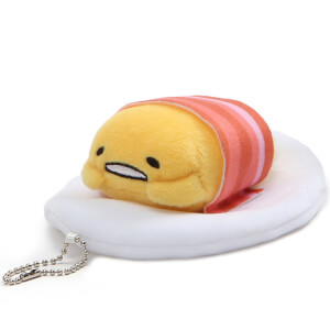 Gudetama Bacon Blanket Plush Key Chain