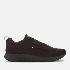 Tommy Hilfiger Men's Corporate Knit Rib Running Style Trainers - Black