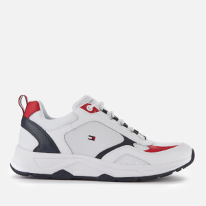 Tommy Hilfiger Men's Fashion Mix Chunky Running Style Trainers - White