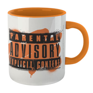 Parental Advisory Explicit Content Mug - White/Orange
