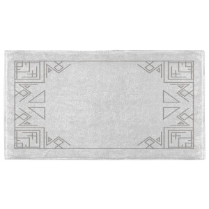 Hand Towels Geometric Border Hand Towel
