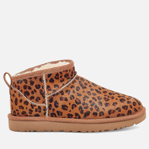UGG Women's Classic Ultra Mini Leopard Boots - Natural