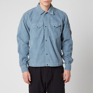 C.P. Company Men's Corduroy Shirt - Blue Fog