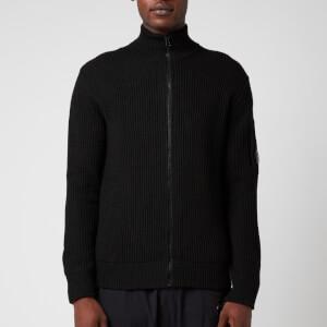 C.P. Company Men's Knitted Zip Cardigan - Black