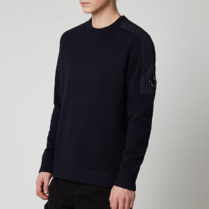 C.P. Company Men's Shoulder Detail Knitted Jumper - Total Eclipse