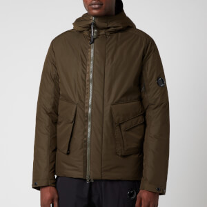 C.P. Company Men's Zipped Jacket - Ivy Green