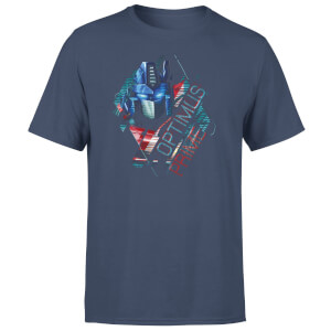 T-Shirt Transformers Optimus Prime Glitch - Blu Navy - Unisex