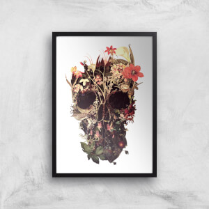 Ikiiki Bloom Skull Giclee Art Print