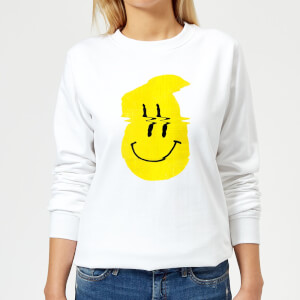 Ikiiki Smiley Women's Sweatshirt - White