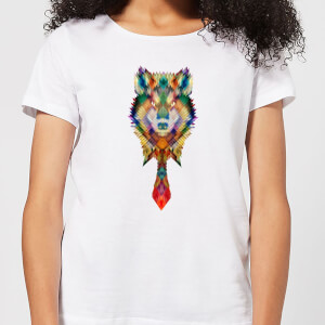 Ikiiki Wolf Women's T-Shirt - White