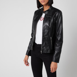HUGO Women's Lilova Leather Jacket - Black
