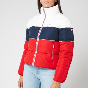 Tommy Jeans Women's TJW Rwb Puffa Jacket - Twilight Navy/Multi