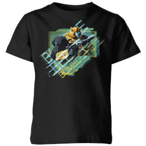 T-shirt Transformers Bumble Bee Glitch - Noir - Enfants