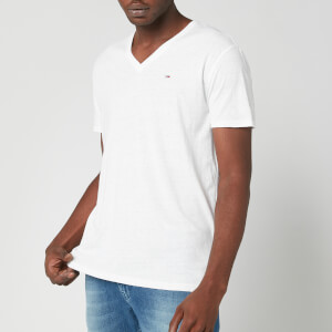 Tommy Jeans Men's Original Triblend V-Neck T-Shirt - Classic White
