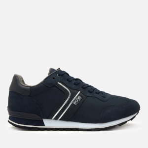 BOSS Business Men's Parkour Running Style Trainers - Dark Blue