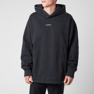 Acne Studios Men's Reverse Logo Hooded Sweatshirt - Black
