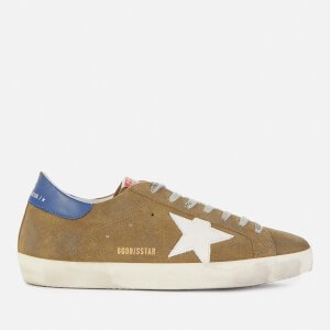 Golden Goose Deluxe Brand Men's Superstar Suede Trainers - Wood Green/White/Blue