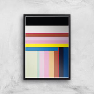 Colourful Stripes Giclee Art Print
