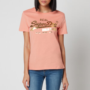 Superdry Women's Vl Luster T-Shirt - Antique Peach