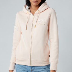 Superdry Women's Established Zip Hoodie - Bright Blush