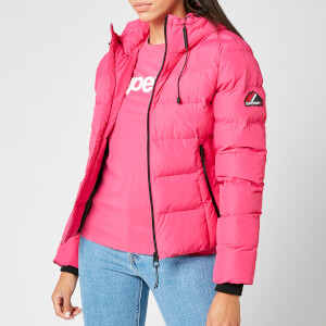 Superdry Women's Spirit Sports Puffer Jacket - Pink