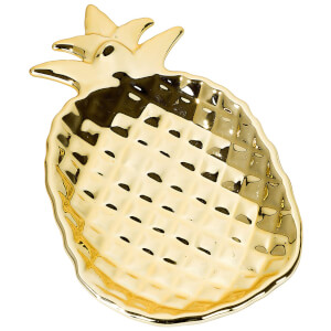 Pineapple Gold Ceramic Dish