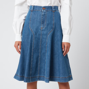 See By Chloé Women's Midi Skirt - Deep Denim