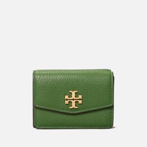 Tory Burch Women's Kira Mixed-Materials Tri-Fold Mini Wallet - Shrub
