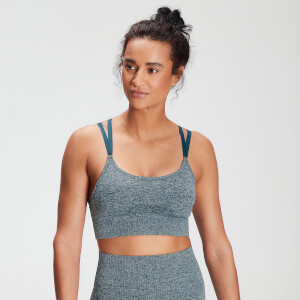 MP Women's Raw Training Seamless Bra - Deep Sea Blue