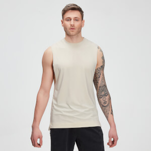 MP Men's Raw Training drirelease® Drop Armhole Tank - Ecru