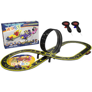 Micro Scalextric Wacky Races with Dick Dastardly & Muttley vs Peter Perfect Mains Powered Race Set