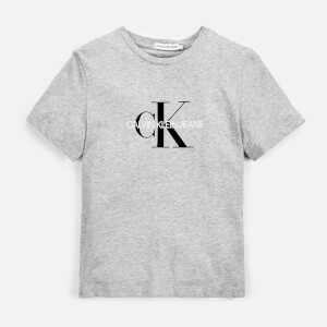 Calvin Klein Monogram Logo T-Shirt - Light Grey