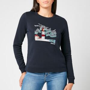 Barbour Women's Cassins Overlayer Sweatshirt - Navy