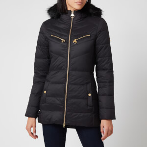 Barbour International Women's Grounding Quilt Coat - Black