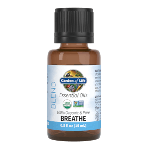 Garden of Life Organic Essential Oil Blend - Breathe - 15ml