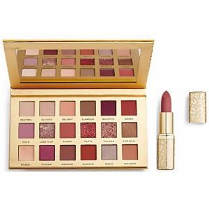 Revolution Pro New Neutral Blush Shadow Palette and Velvet Satin Matte Lipstick