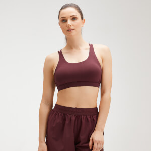 MP Women's Essentials Training Control Sports Bra - Washed Oxblood