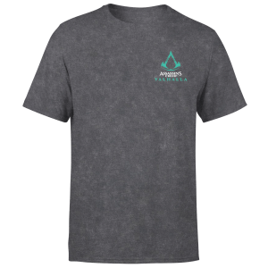 Assassins Creed Valhalla Glow In The Dark Unisex T-Shirt - Black Acid Wash