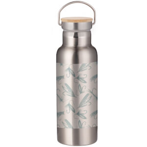Fishing Hooks Portable Insulated Water Bottle - Steel