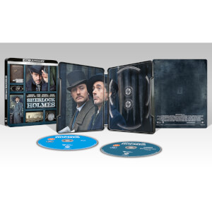 Exclusivité Zavvi : Steelbook Sherlock Holmes - 4K Ultra HD (Blu-ray 2D Inclus)