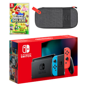 Nintendo Switch (Neon Blue/Neon Red) New Super Mario Bros. U Deluxe