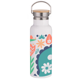 Nordic Dinosaur Portable Insulated Water Bottle - White