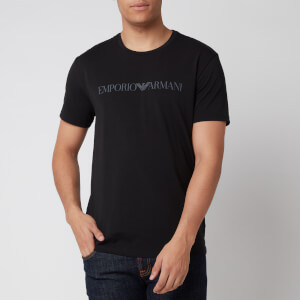 Emporio Armani Men's Textured Logoband T-Shirt - Black