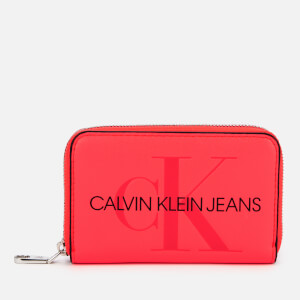 Calvin Klein Jeans Women's Accordion Zip Around - Fluo Pink