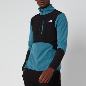 The North Face Men's Glacier Pro 1/4 Zip Fleece - Mallard Blue/TNF Black