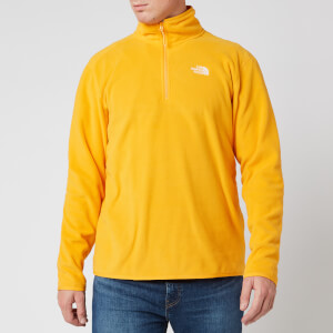 The North Face Men's 100 Glacier 1/4 Zip Fleece - Summit Gold