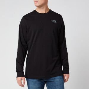 The North Face Men's Long Sleeve Easy T-Shirt - TNF Black/Zinc Grey