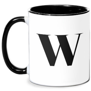 W Mug - White/Black