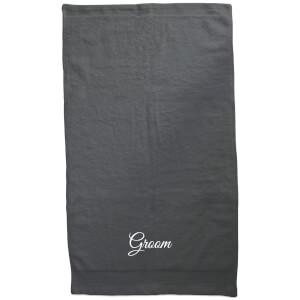 Groom Embroidered Towel